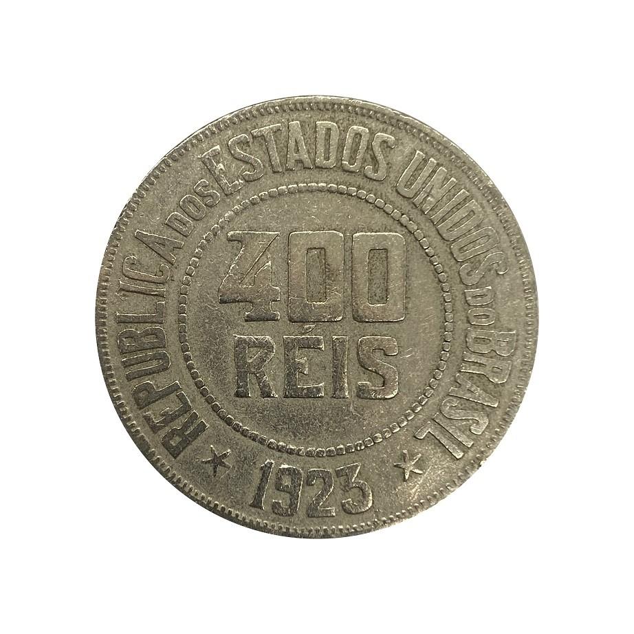 Moeda Brasil 400 Réis 1923 MBC