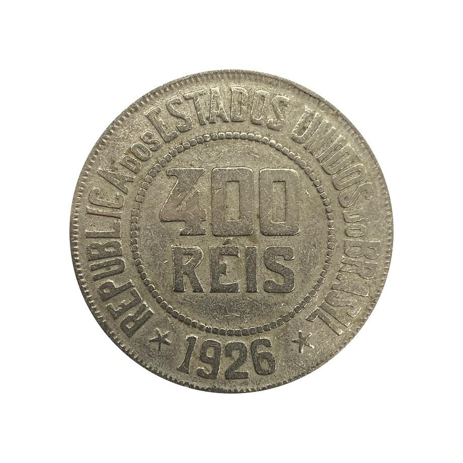 Moeda Brasil 400 Réis 1926 MBC