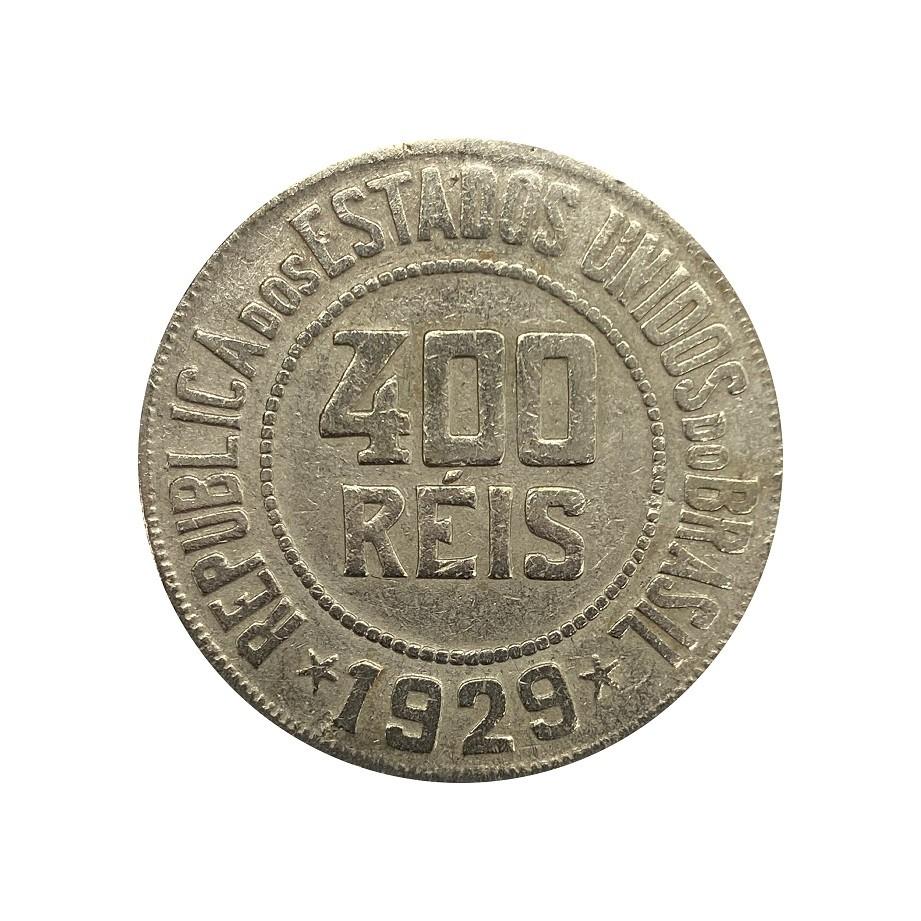 Moeda Brasil 400 Réis 1929 MBC