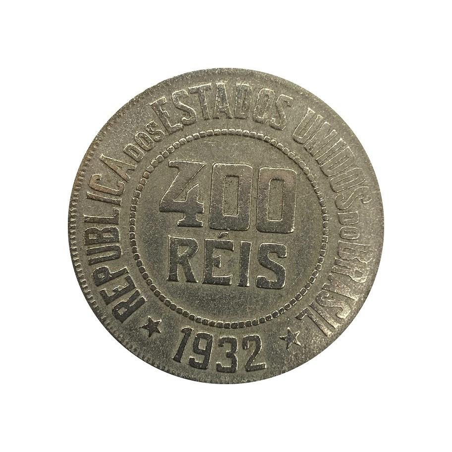 Moeda Brasil 400 Réis 1932 MBC