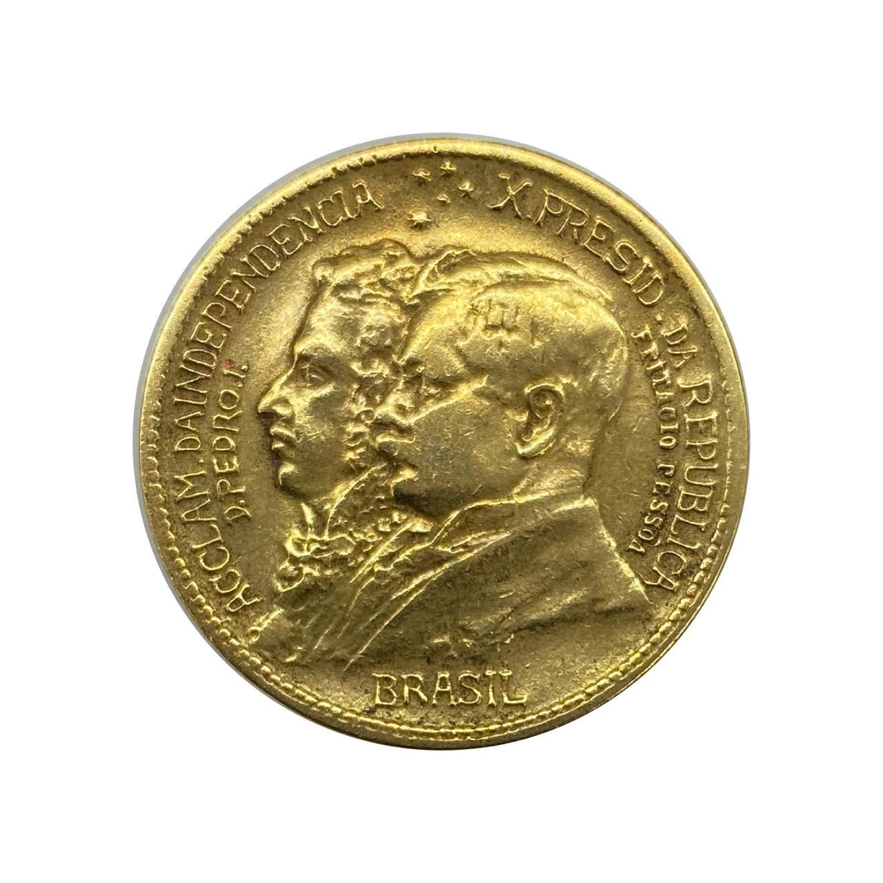 Moeda Brasil 500 Réis 1922 - Mbc