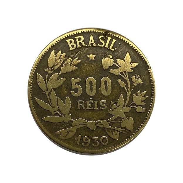 Moeda Brasil 500 Réis 1930 MBC
