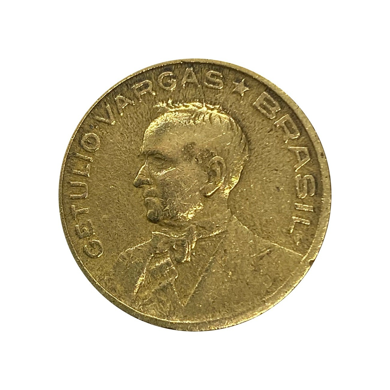 Moeda Brasil 50 Centavos 1945 Getúlio Vargas MBC