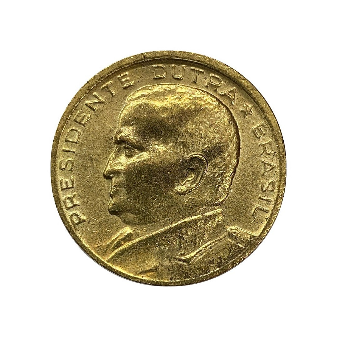 Moeda Brasil 50 Centavos 1949 Gaspar Dutra MBC