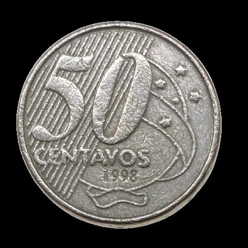 Moeda Brasil 50 Centavos 1998 MBC