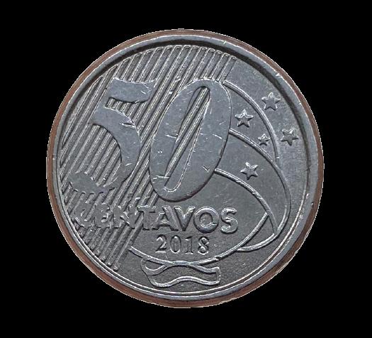 Moeda Brasil 50 Centavos 2018 SOB