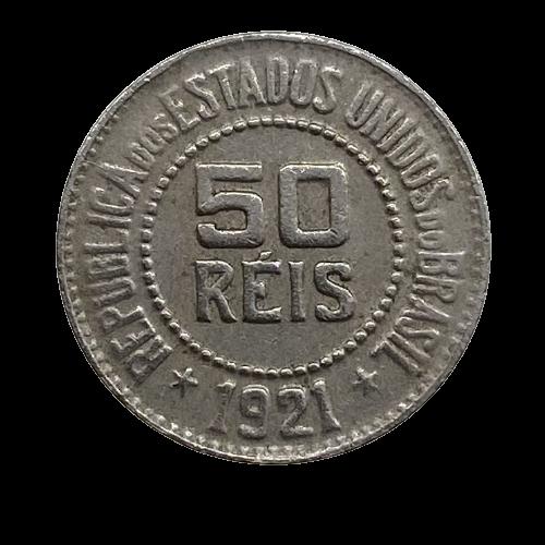 Moeda Brasil 50 Réis 1921 MBC