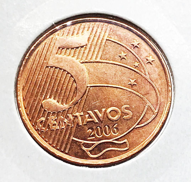 Moeda Brasil 5 Centavos 2006 FC