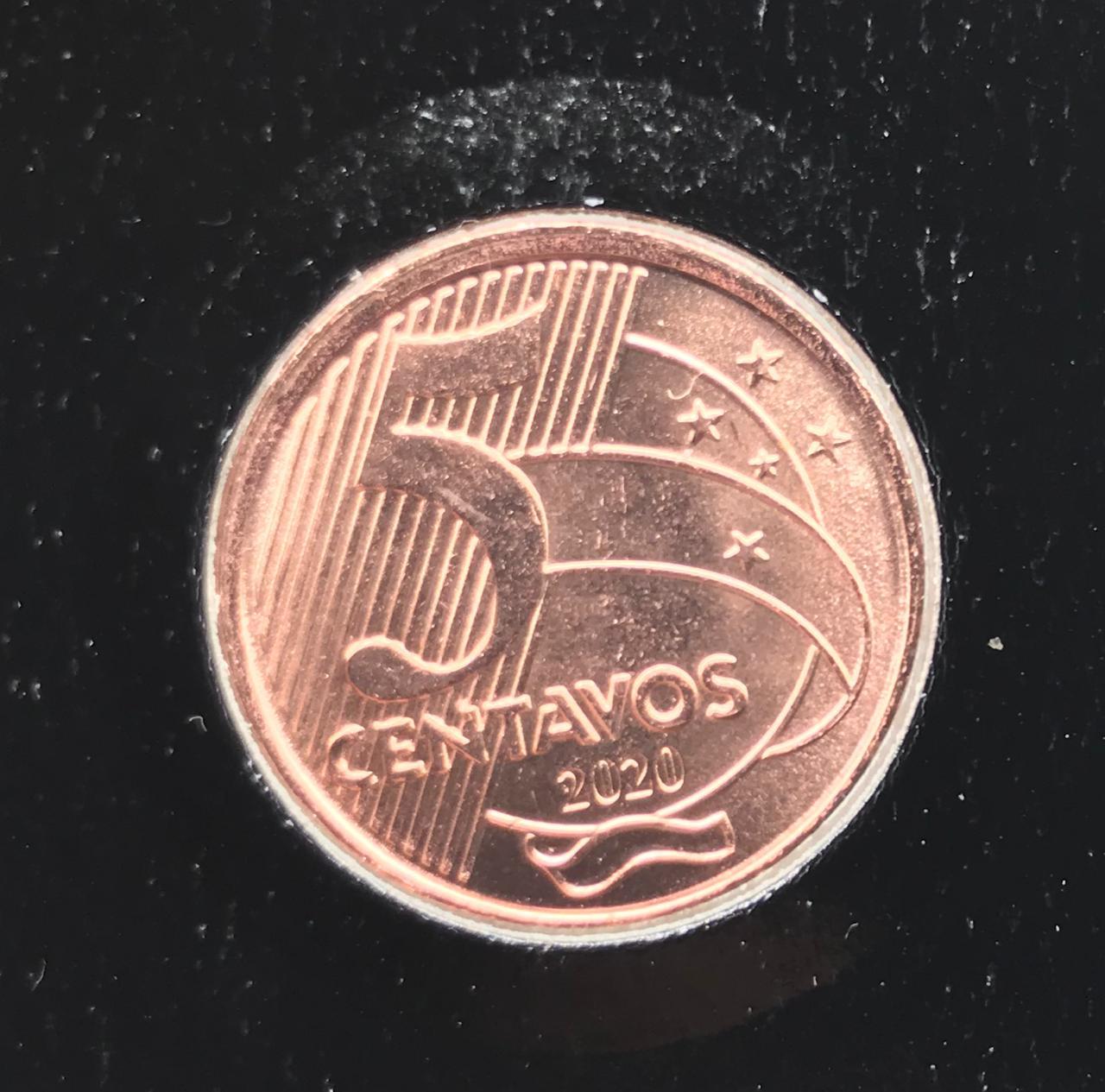 Moeda Brasil 5 Centavos 2020 FC