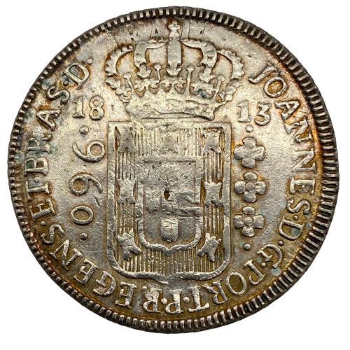 Moeda Brasil 960 Reis 1813 B - Patacão