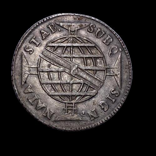 Moeda Brasil 960 Réis 1814 B Patacão SOB