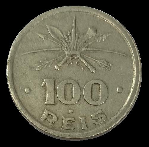 Moeda Brasil Comemorativa Série Vicentina 100 Réis 1932 SOB