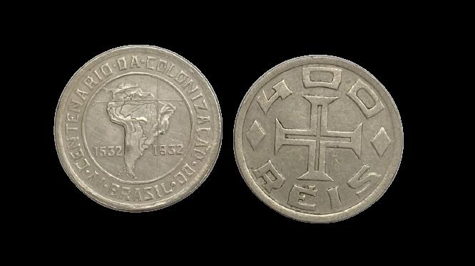 Moeda Brasil Comemorativa Série Vicentina 400 Réis 1932 SOB