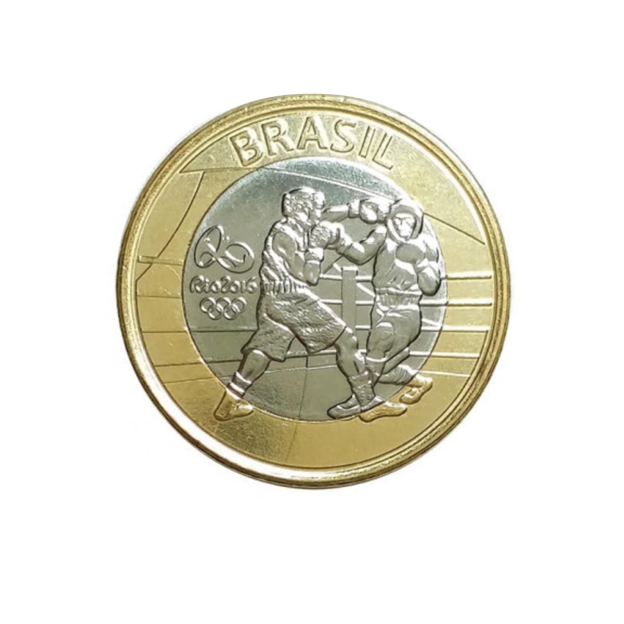 Moeda Brasil Olímpica Boxe 1 Real FC