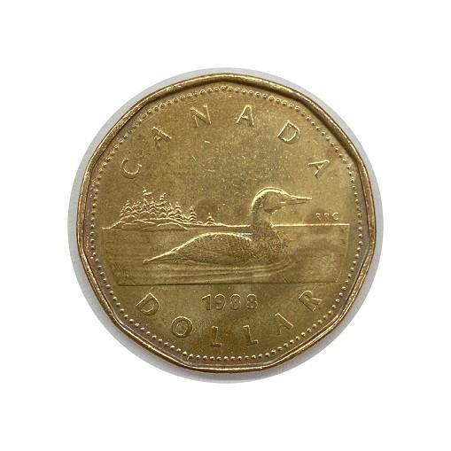 Moeda Canada 1 Dollar 1988