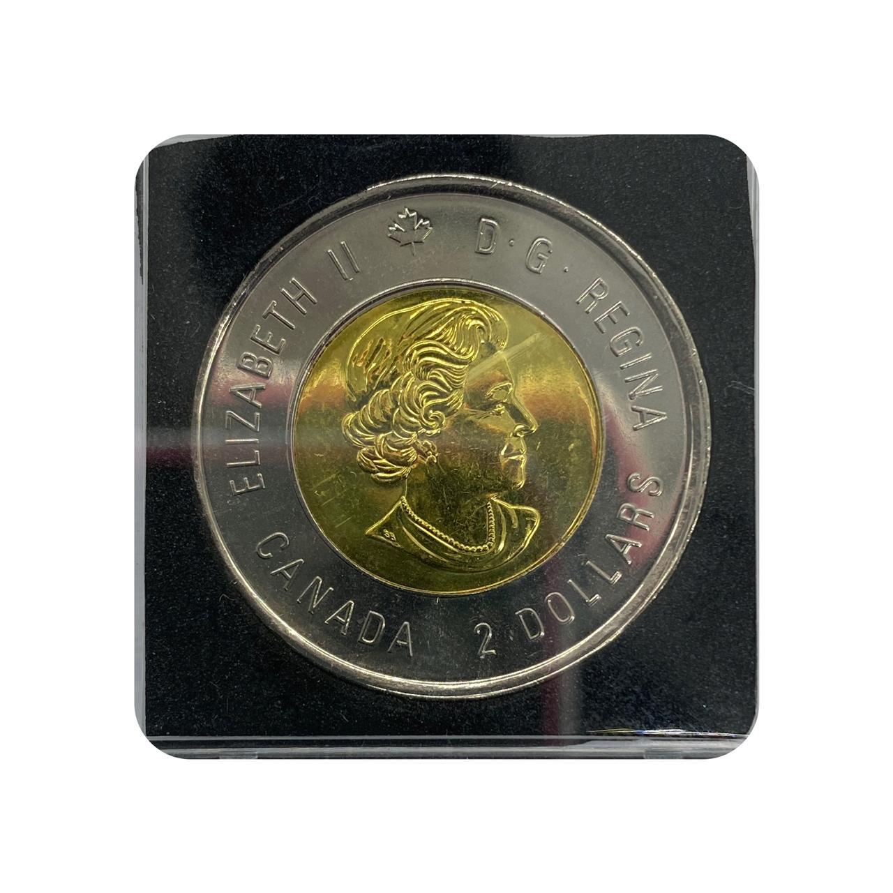 Moeda Canadá Comemorativa 75º Aniversário - 2ª Guerra Mundial 2 dólares 2014 FC
