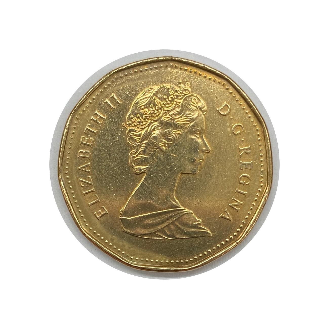Moeda Canadá Fauna 1 Dólar 1988 MBC