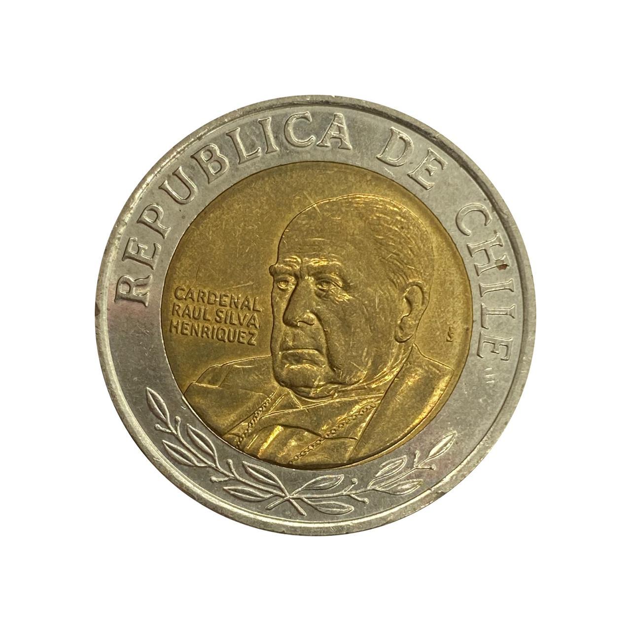 Moeda Chile 500 Pesos 2014 MBC