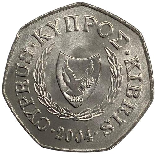 Moeda Chipre 50 Cêntimos (com 7 lados) 2004 FC