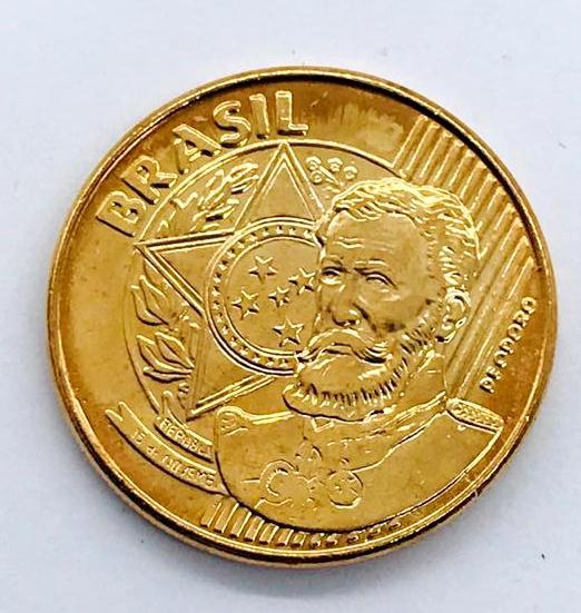 Moeda Colecionável Brasil 25 Centavos 2010 FC