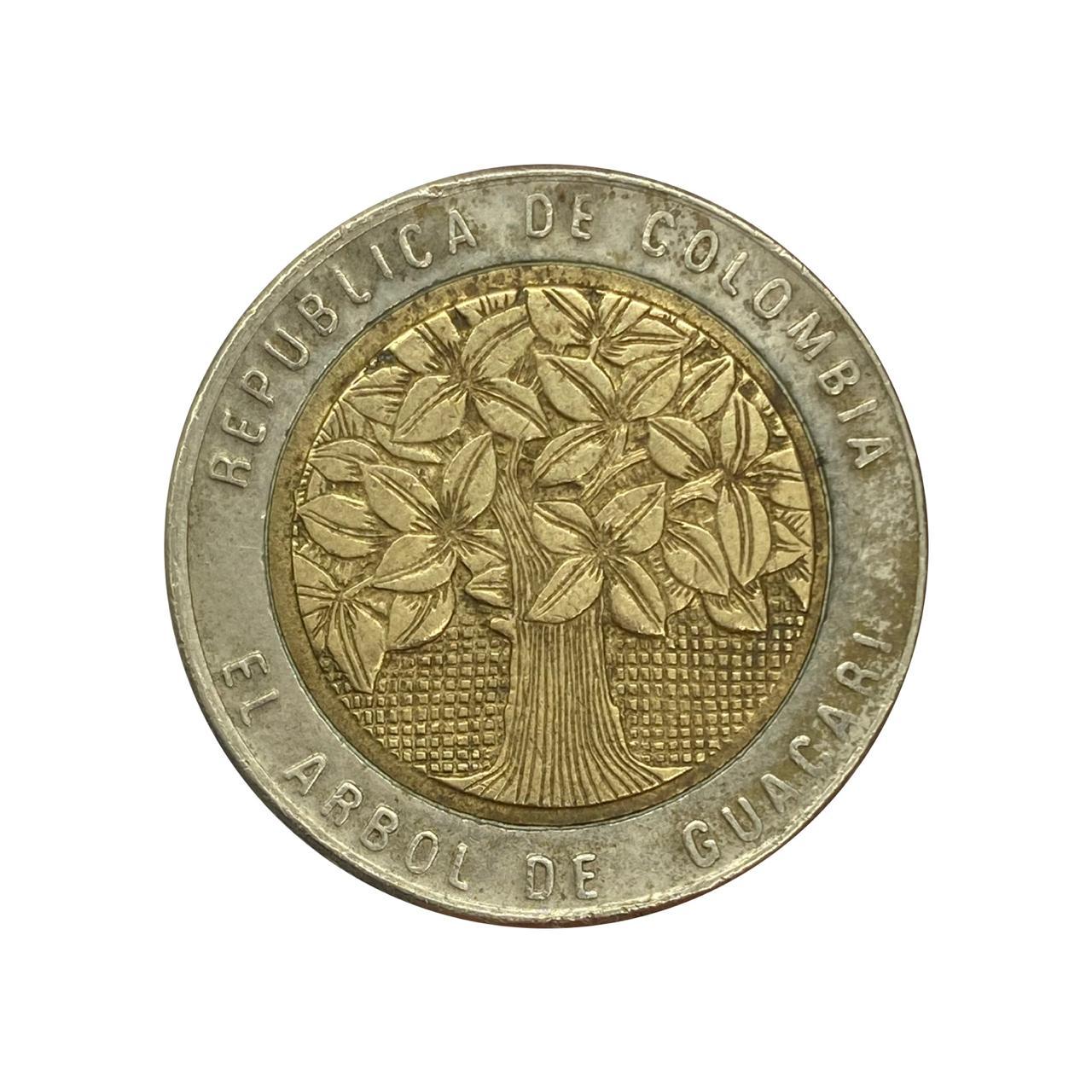 Moeda Colômbia 500 Pesos 2005 MBC