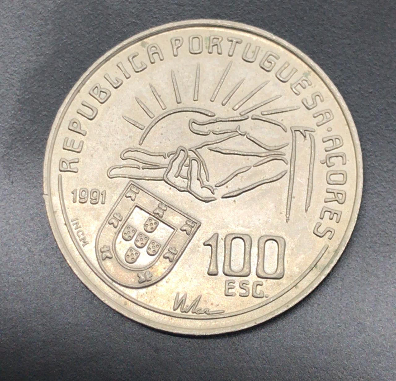 Moeda de Portugal 100 Escudos Antero de Quental