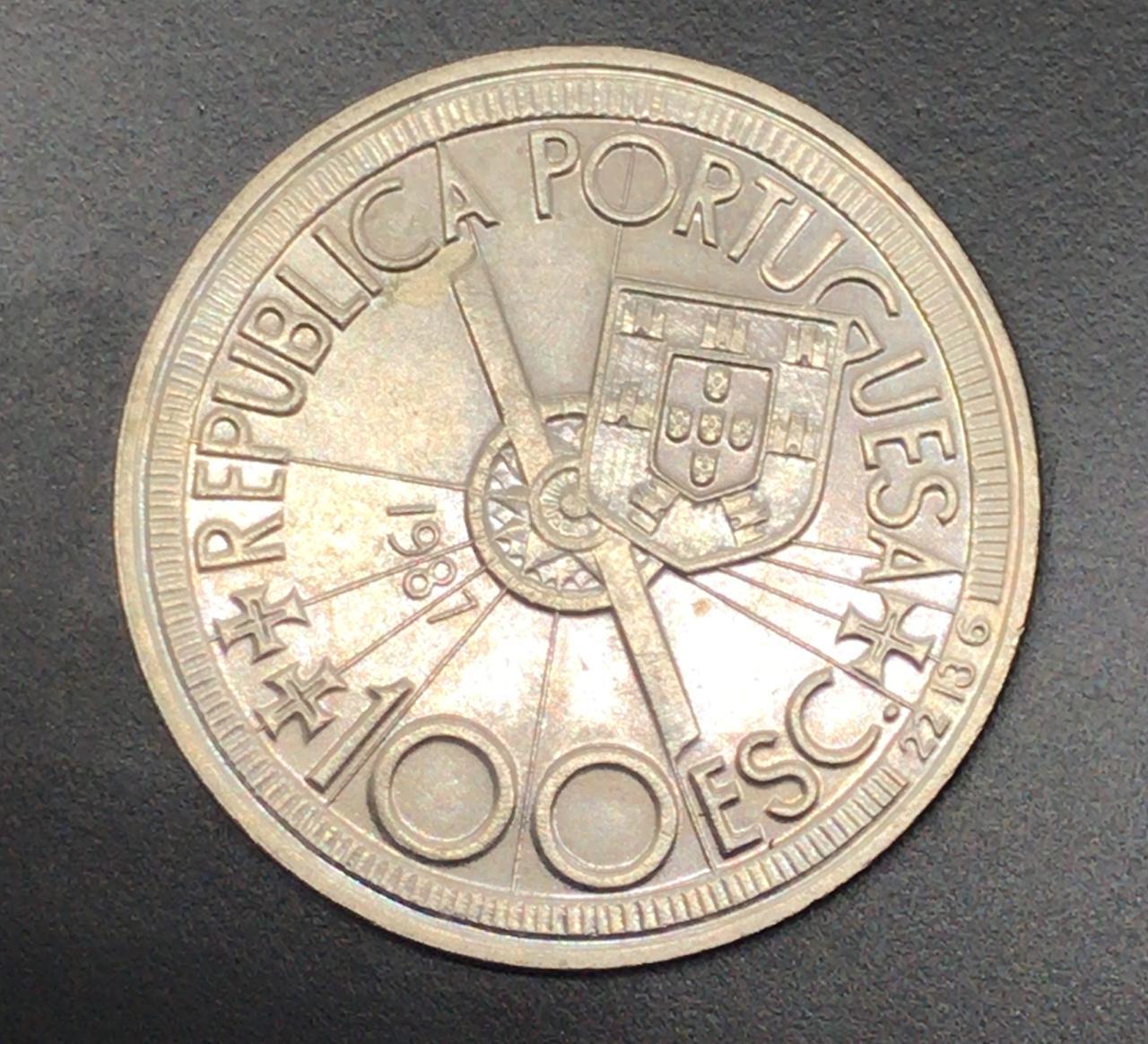 Moeda de Portugal 100 Escudos Diogocao