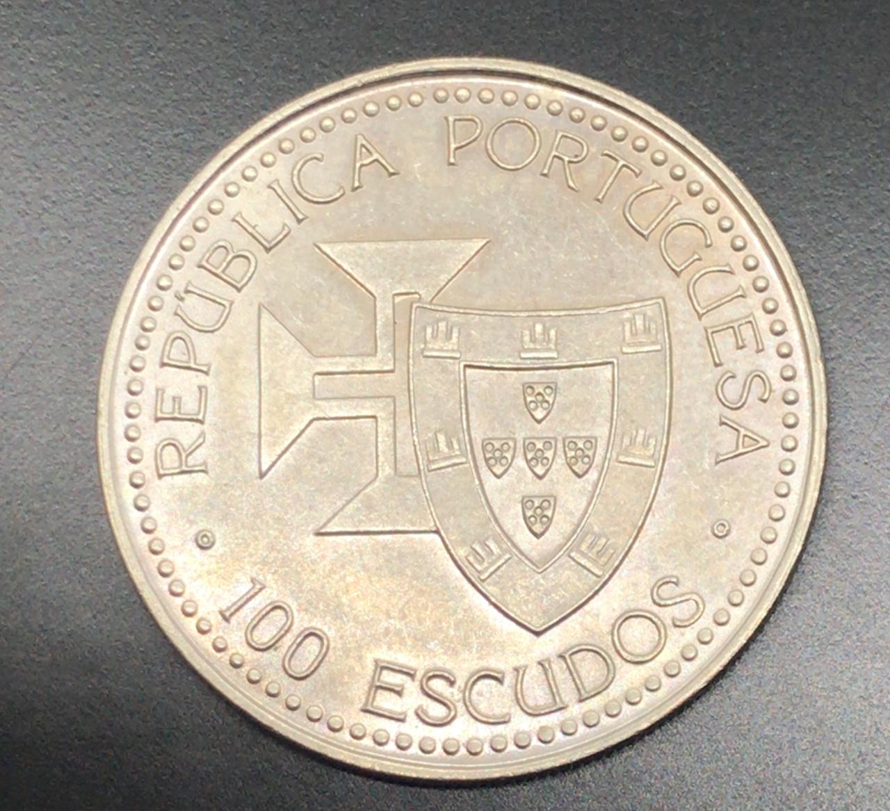Moeda de Portugal 100 Escudos Porto Santo