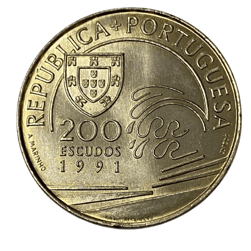 Moeda de Portugal 200 Escudos - Colombro e Portugal 1476-1485