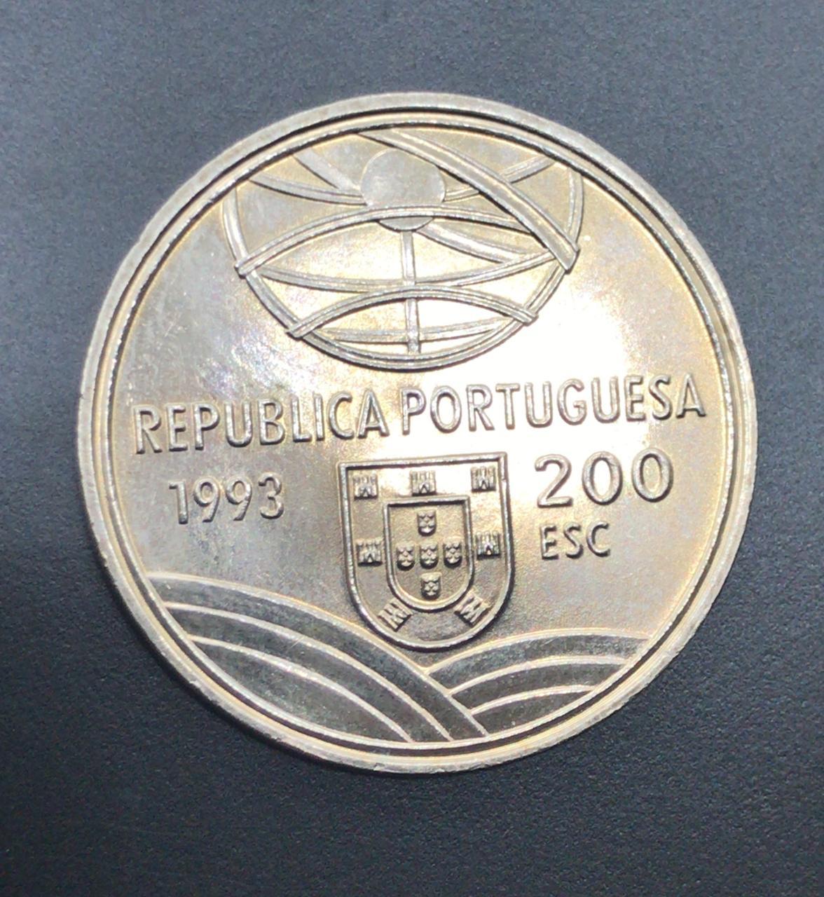 Moeda de Portugal 200 Escudos - Espingarda 1543-1575