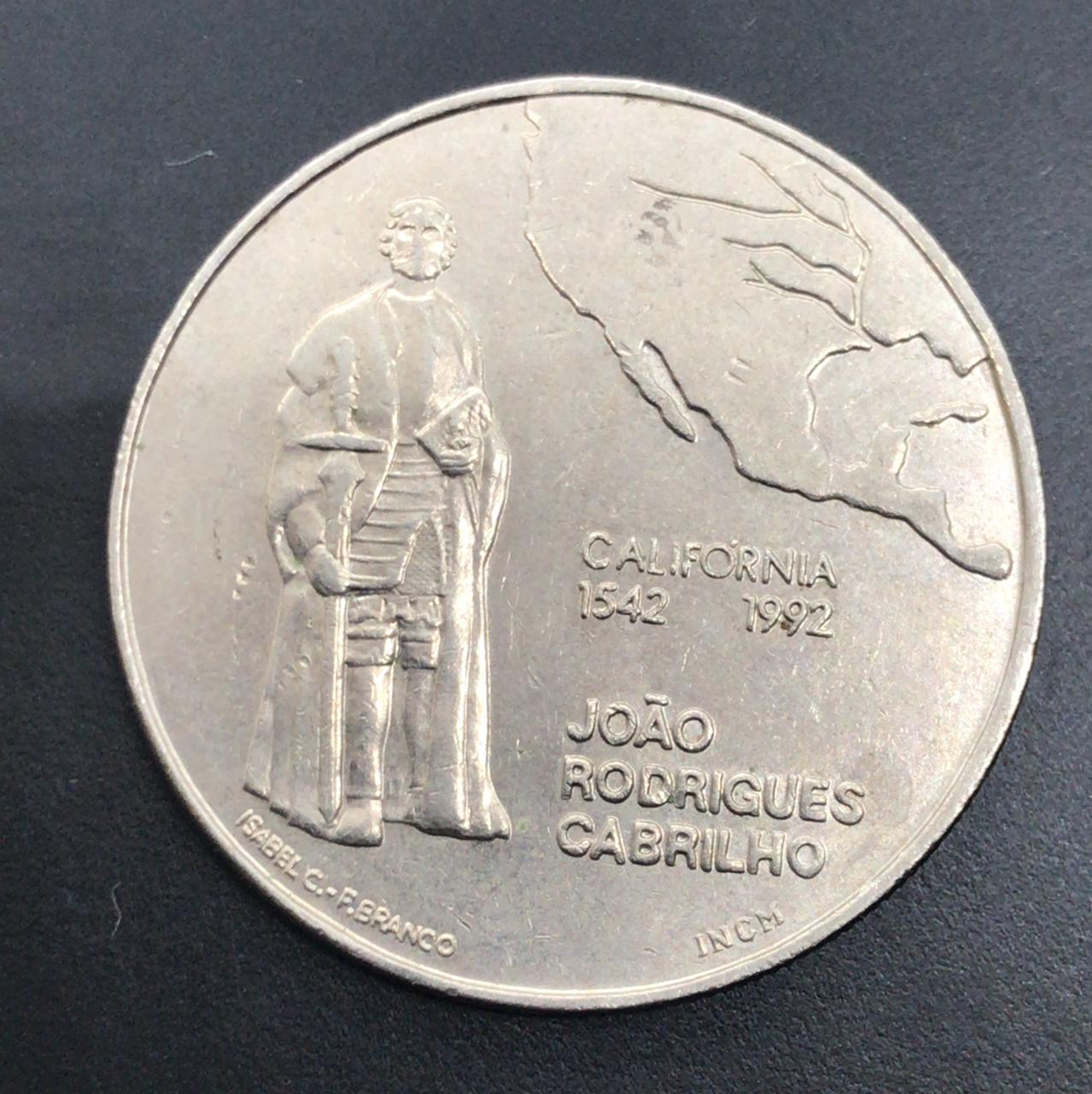 Moeda de Portugal 200 Escudos - João Rodrigues Cabrilho