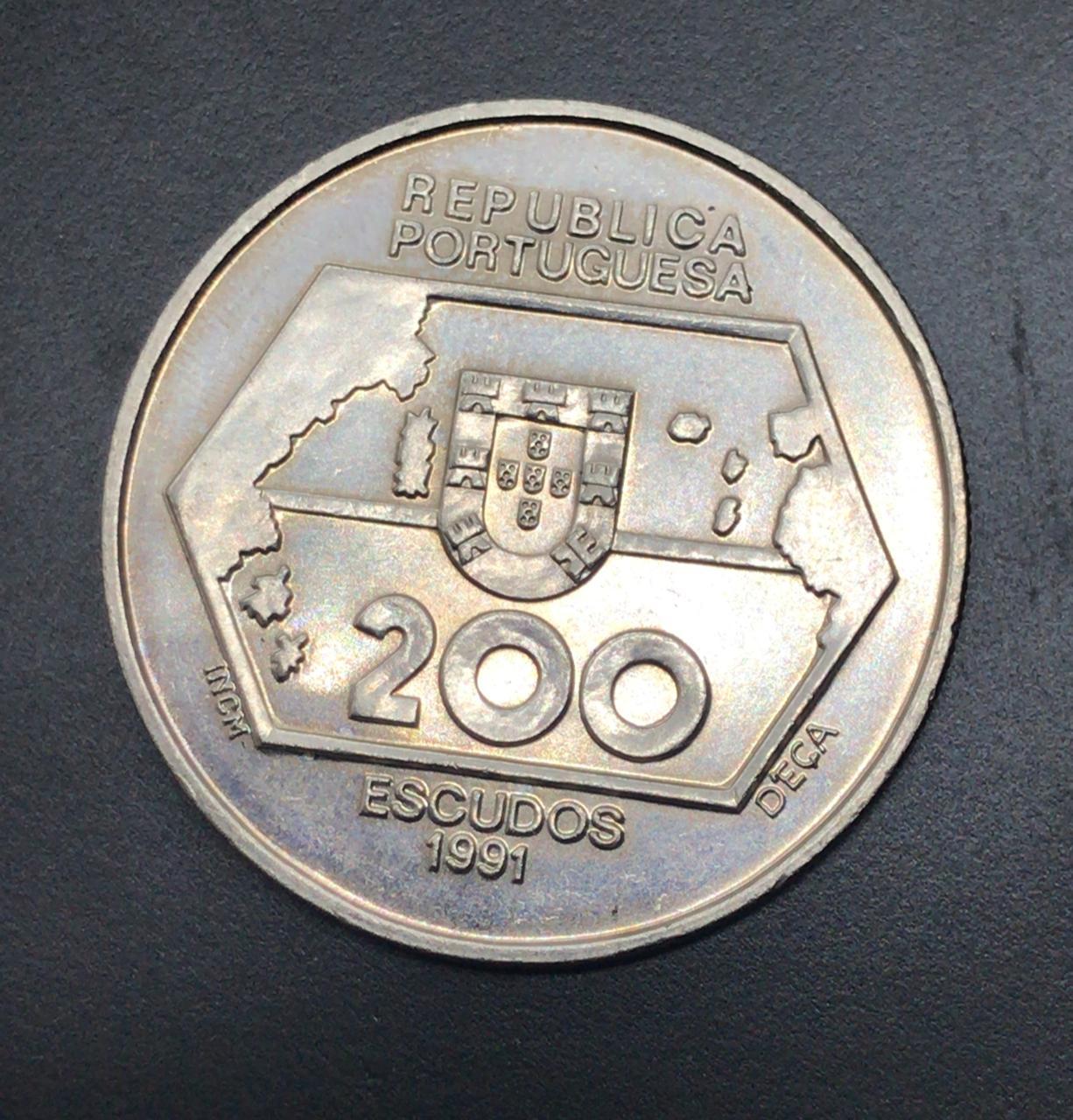 Moeda de Portugal 200 Escudos - Navegações para Ocidente 1452-1486
