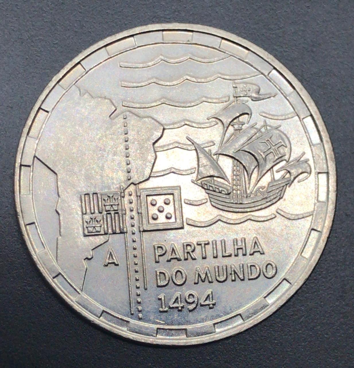 Moeda de Portugal 200 Escudos - Partilha do Mundo 1494