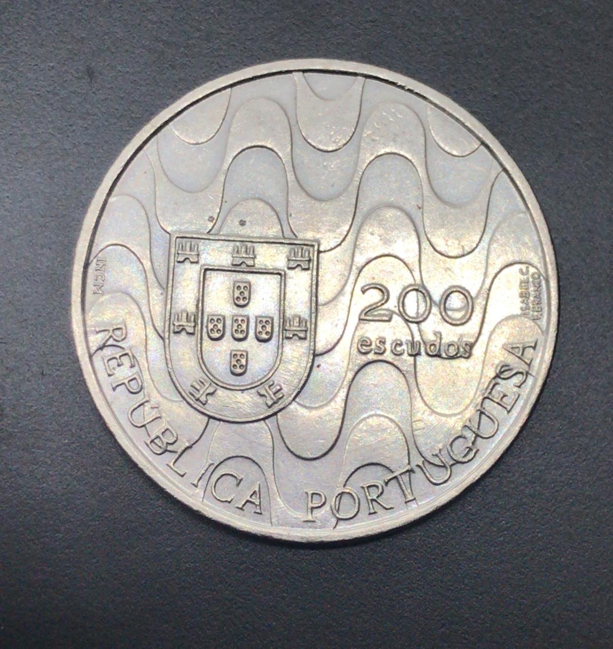 Moeda de Portugal 200 Escudos - Presidência da comunidade europeia - 1992