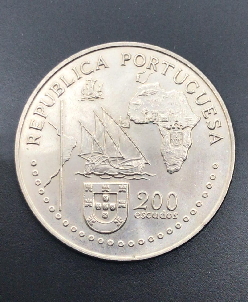 Moeda de Portugal 200 Escudos - Tratado de Tordesilhas 1494-1994