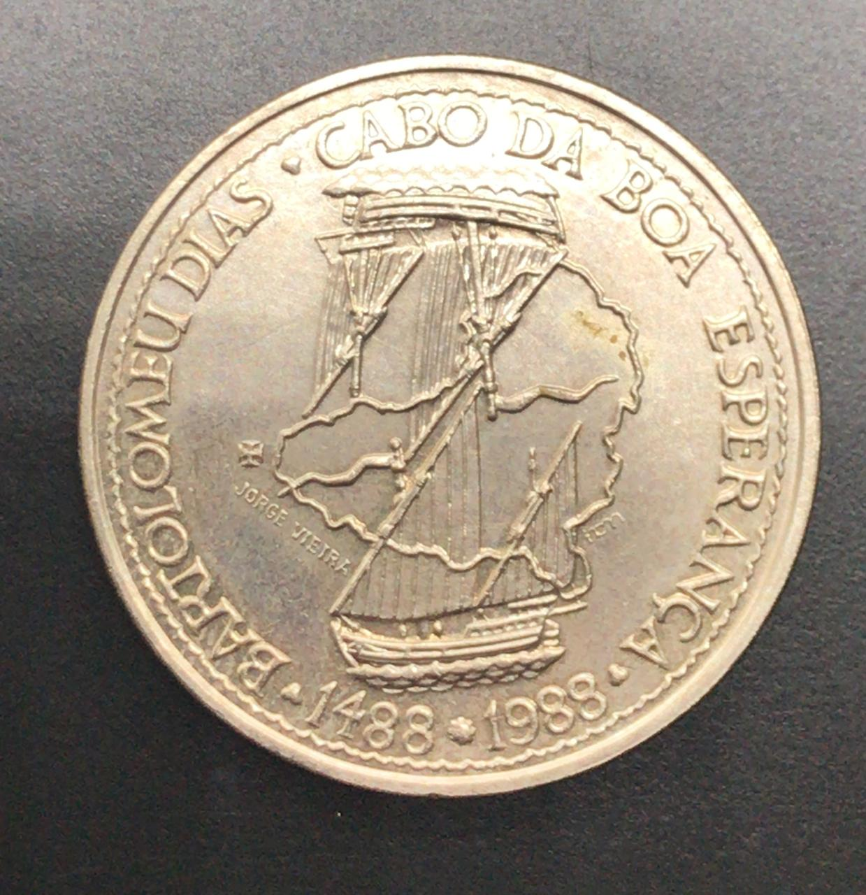 Moeda de Portugal Bartolomeu Dias 100 Escudos 1988 SOB