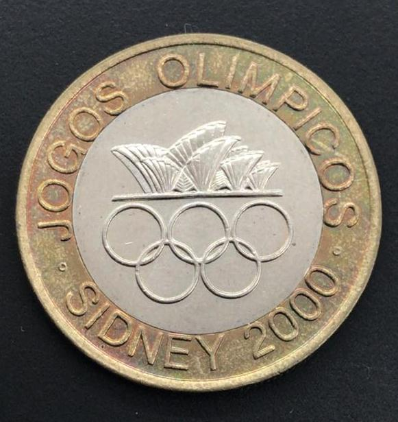 Moeda de Portugal Comemorativa Jogos Olímpicos Sidney Bimetalica  2000