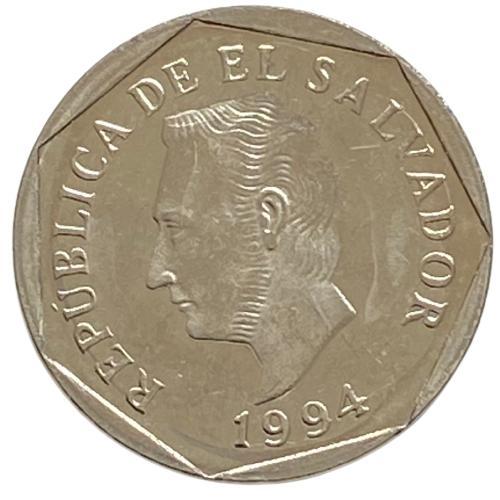 Moeda El Salvador 5 centavos 1994