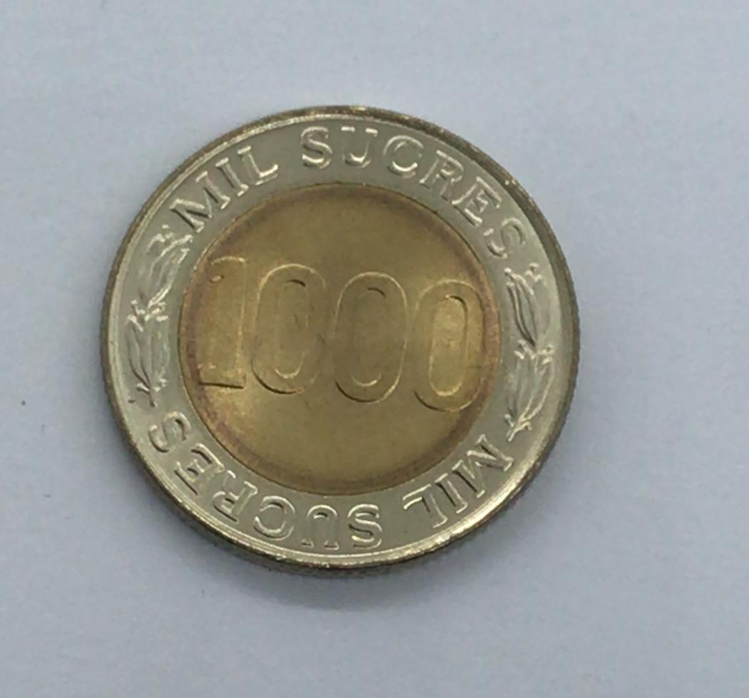 Moeda Equador 1000 Sucres