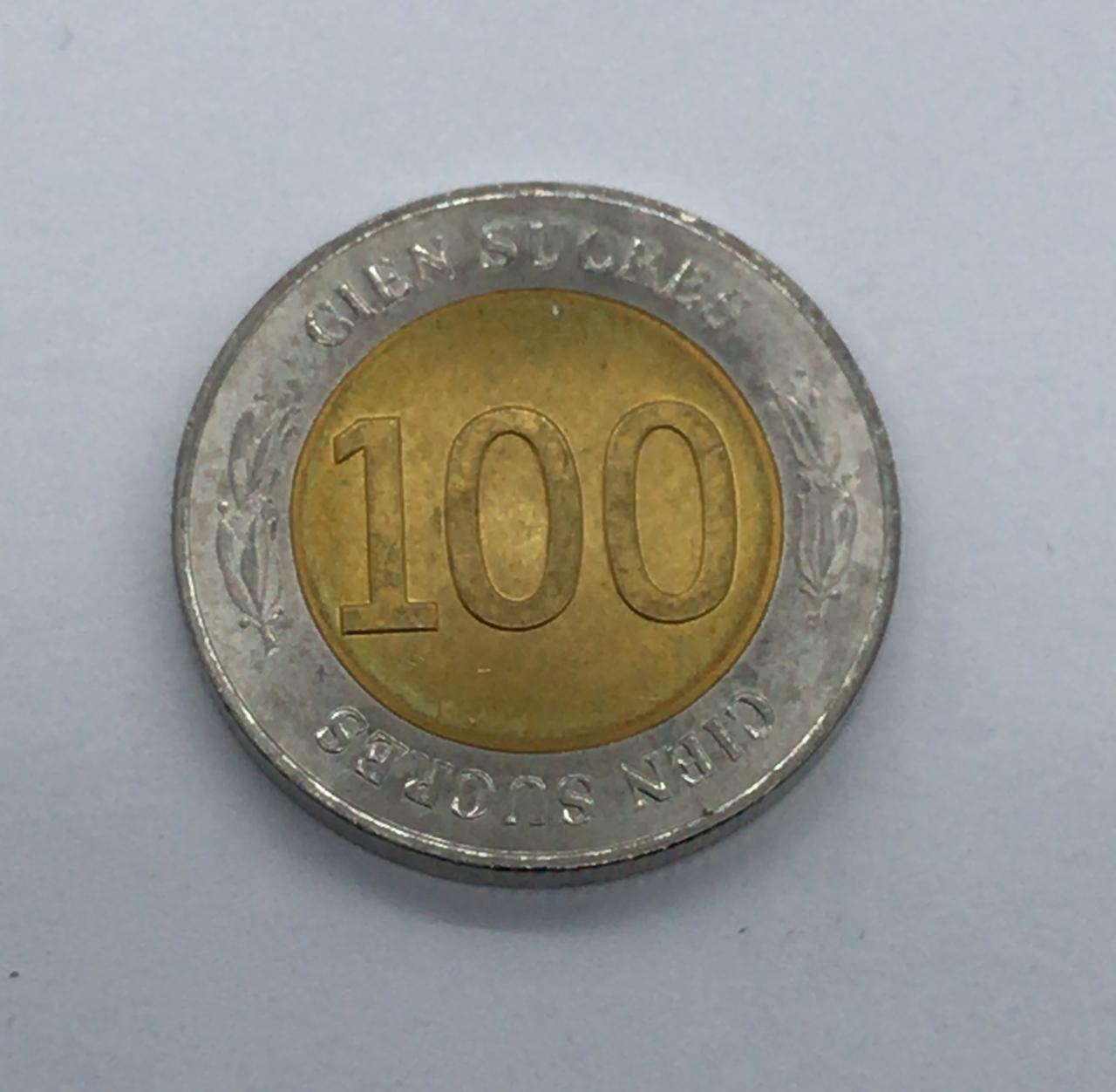 Moeda Equador 100 Sucres