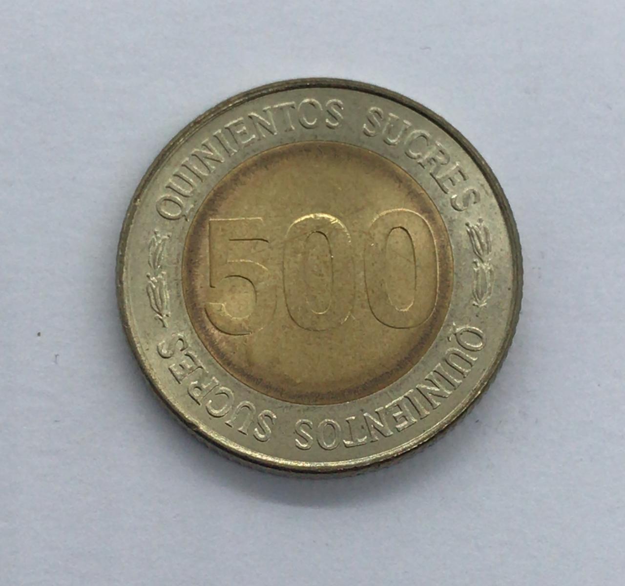 Moeda Equador 500 Sucres
