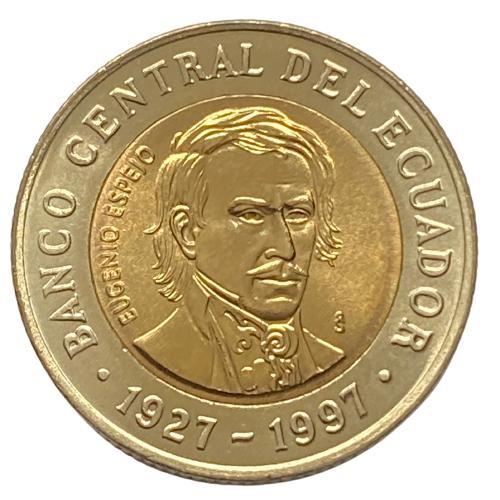 Moeda Equador Comemorativa 1000 Sucres 1997 FC