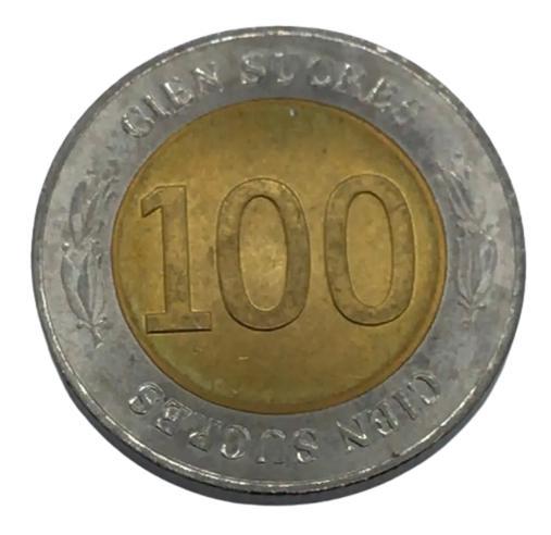 Moeda Equador Comemorativa 100 Sucres 1997 FC