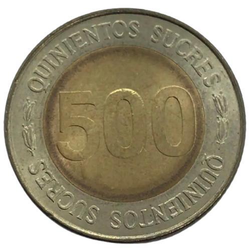 Moeda Equador Comemorativa 500 Sucres 1997 FC