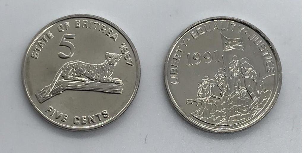 Moeda Eritreia 5 cents