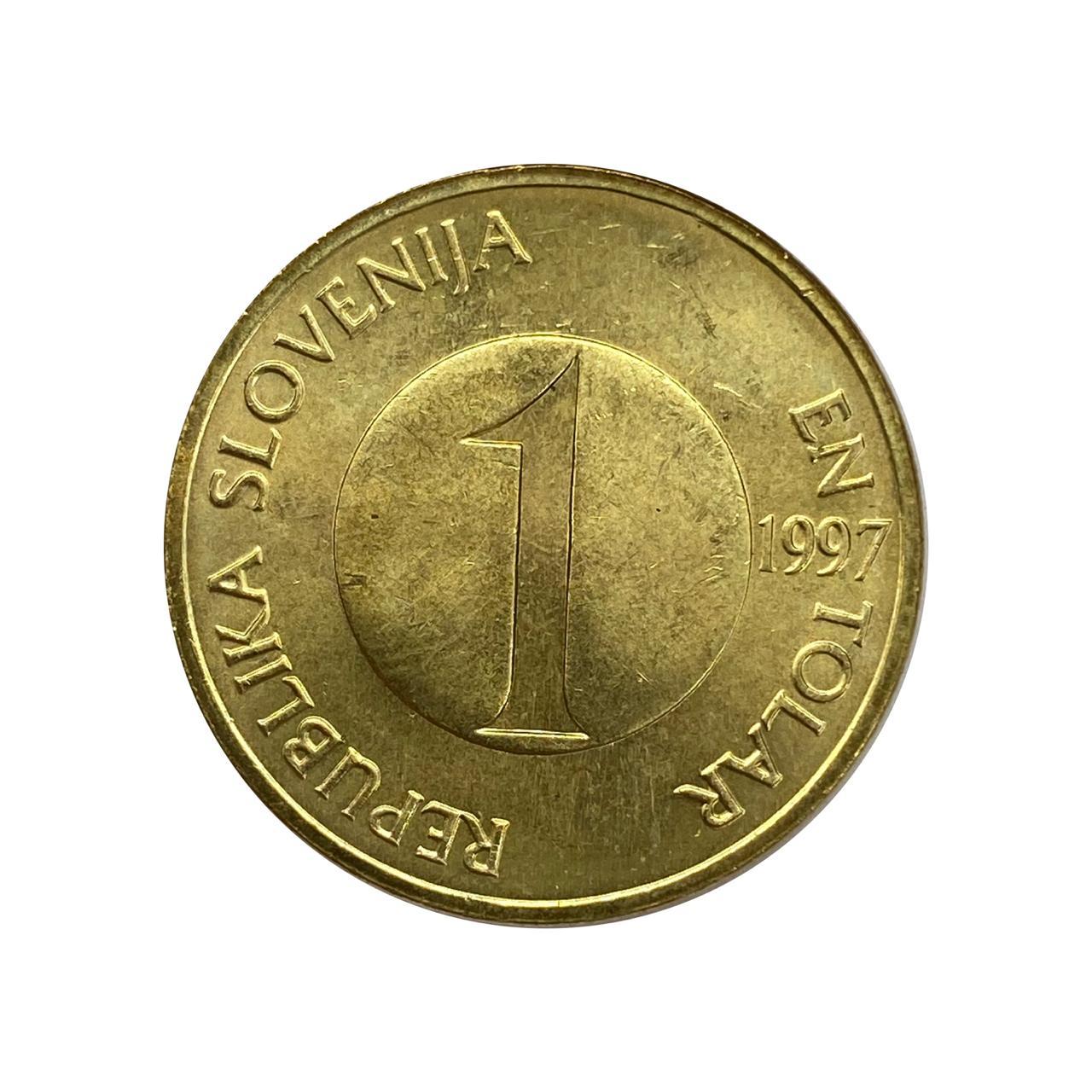 Moeda Eslovênia Fauna 1 Tolar 1997 SOB