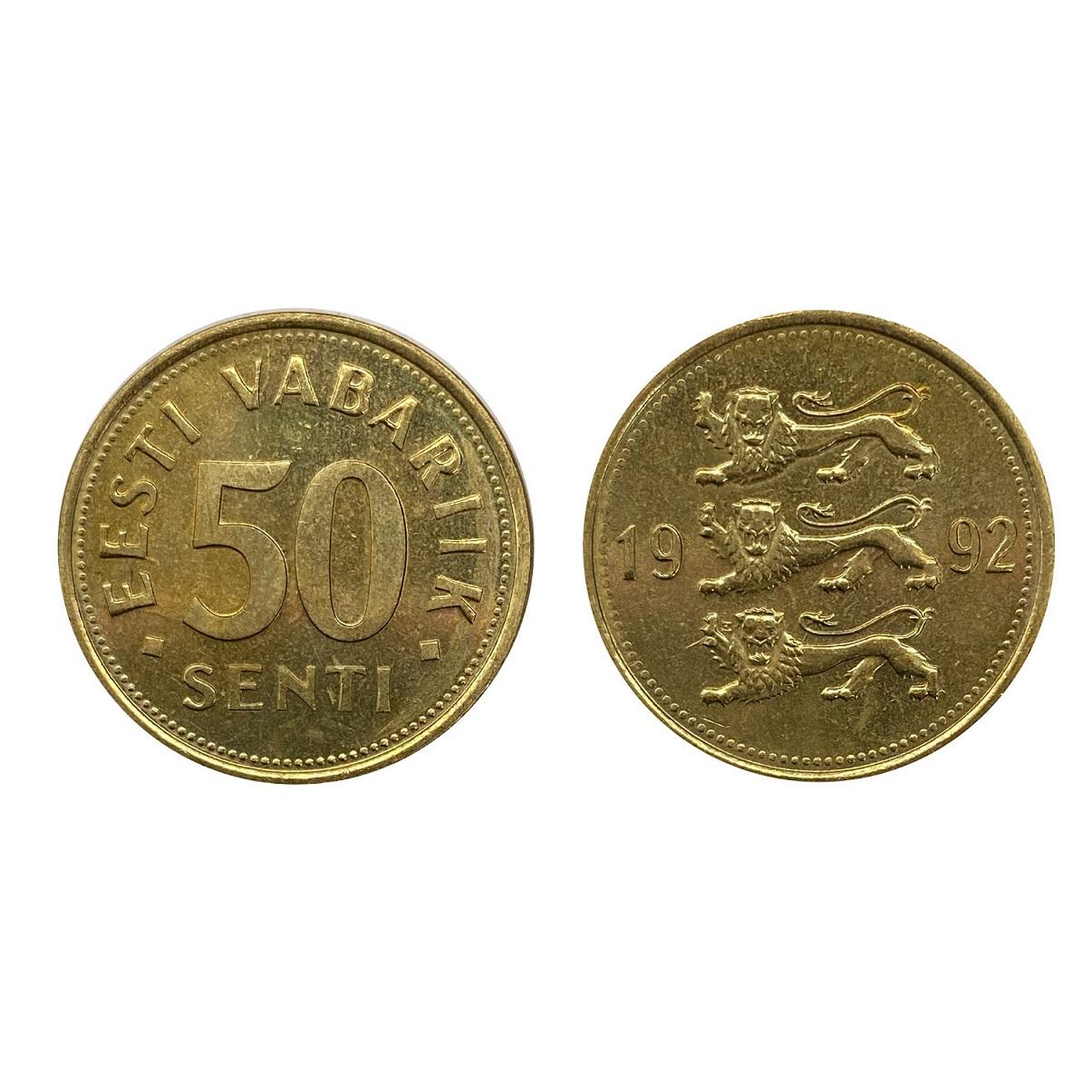 Moeda Estônia 50 Senti 1992 FC