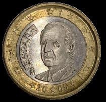 Moeda  Euro Espanha 1 Euro 2005 MBC