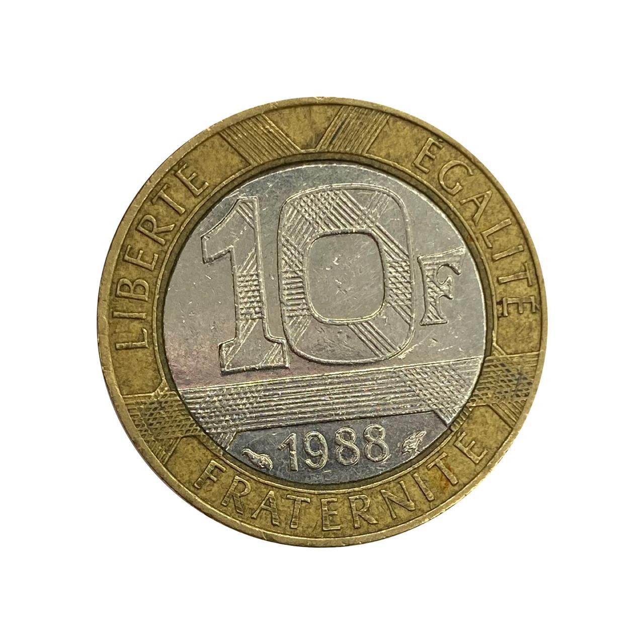 Moeda França 10 Francos 1988 MBC