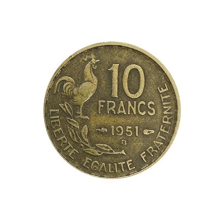 Moeda Franca 1951 B MBC